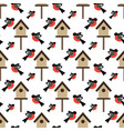 bird and bird house pattern vector image vector image