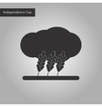 black and white style icon of wheat cloud vector image vector image
