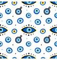 blue eye-shaped nazar talismans amulets pattern vector image vector image
