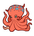 bright colored octopus vector image vector image