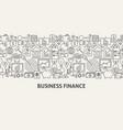 business finance banner concept vector image