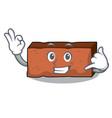 call me brick mascot cartoon style vector image vector image