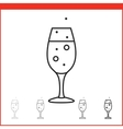Christmas champagne glass icon vector image vector image