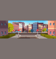 city street building houses architecture empty vector image vector image