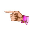 color female hand pointer finger showing gesture vector image vector image