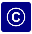 copyright tademark icon vector image vector image