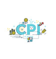 cpi consumer price index word vector image vector image