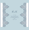 cutout paper background with lace border pattern vector image vector image
