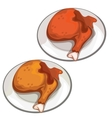 Delicious fried chicken legs food vector image vector image