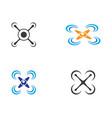 drone logo icon vector image vector image
