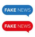 fake news warning speech bubble vector image vector image