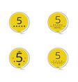 five star badge set vector image vector image