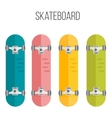 flat skateboards isolated vector image vector image
