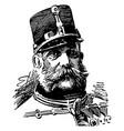francis joseph i vintage vector image vector image