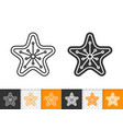 gingerbread cookie xmas star line icon vector image