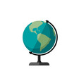 globe planet earth vector image vector image