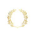 golden greek wreath laurel or olive branches vector image vector image