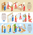 home repair banners vector image vector image