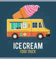 ice cream food truck vector image vector image
