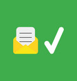 icon concept of written paper inside mail vector image