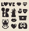 icons of love symbol for valentine day vector image vector image