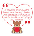 Inspirational love quote Simple cute design vector image