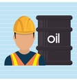 man and petroleum isolated icon design vector image vector image