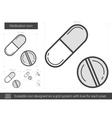 Medication line icon vector image vector image