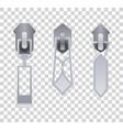 metal or plastic fasteners zippers fastener and vector image vector image