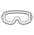military goggles icon black and white vector image vector image