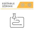 navigation editable stroke line icon vector image vector image