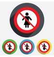 No Female sign icon Woman human symbol vector image