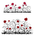 ornament with roses banner vector image vector image