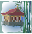 pagoda vector image vector image