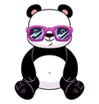 Panda in glasses vector image vector image