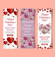 paper cut valentines day special offer vector image
