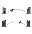 plane with track in flat style vector image vector image