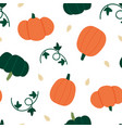 pumpkins seamless pattern background vector image vector image