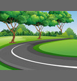 scene with road in the park vector image vector image