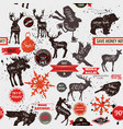 seamless background with stickers labels vector image vector image