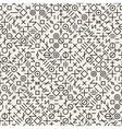 Seamless Black and White Geometric Random vector image