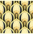 seamless pattern with gold and black ethnic motifs vector image