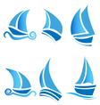 set boats vector image