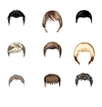 Set of boys hairstyle vector image vector image