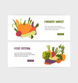 set of web banner templates with tasty organic vector image vector image