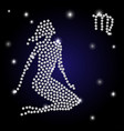 sign of the zodiac virgo is the starry sky vector image vector image