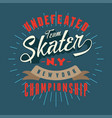 skater new york championship vector image vector image