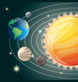 solar system in the universe galaxy vector image vector image