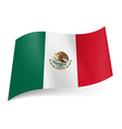 State flag of Mexico vector image