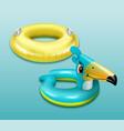 swim ring for children vector image vector image
